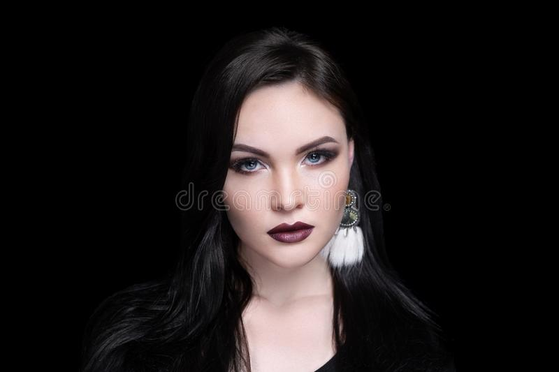 Woman beauty doll look stock image