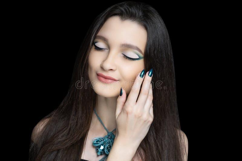 Beautiful woman close up stock image