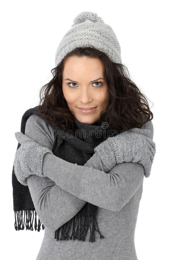 Download Beautiful Woman Cold In Winter Stock Photo - Image: 26973596
