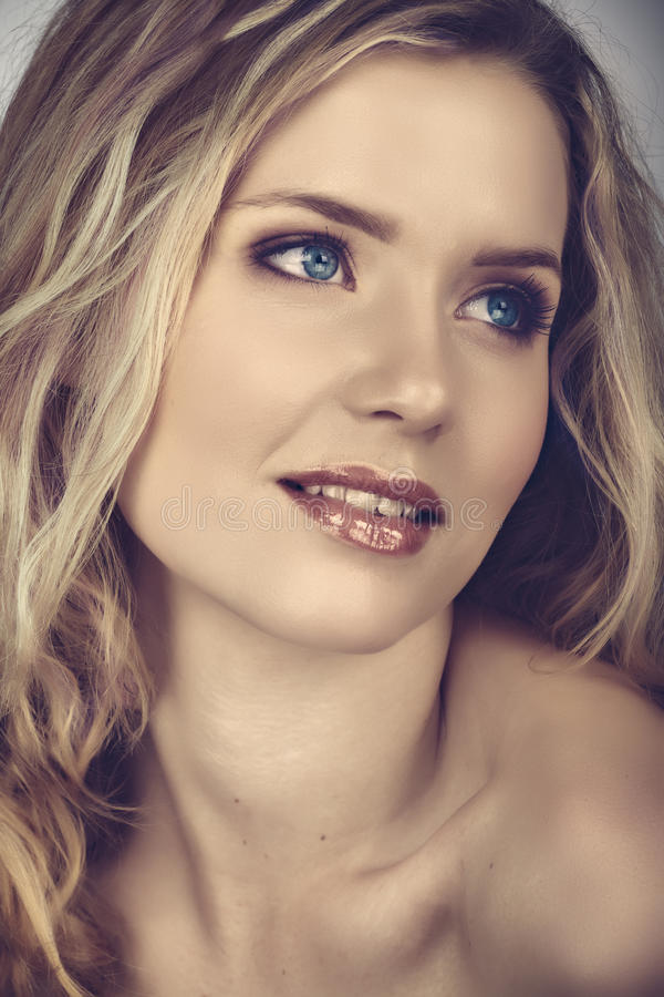 Beautiful woman in cross process effect