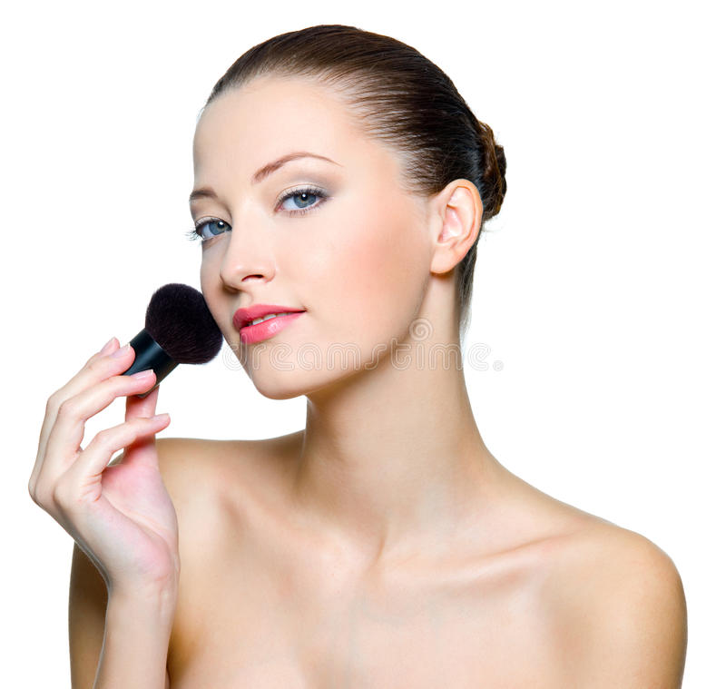 Download Beautiful Woman Doing Make-up On Face Stock Photos - Image: 17009113
