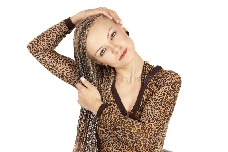 Beautiful Woman With Dreadlocks Stock Photo