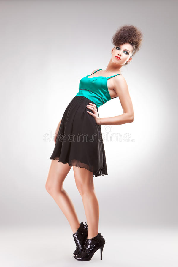 Download Beautiful Woman In Dress Royalty Free Stock Images - Image: 23554029