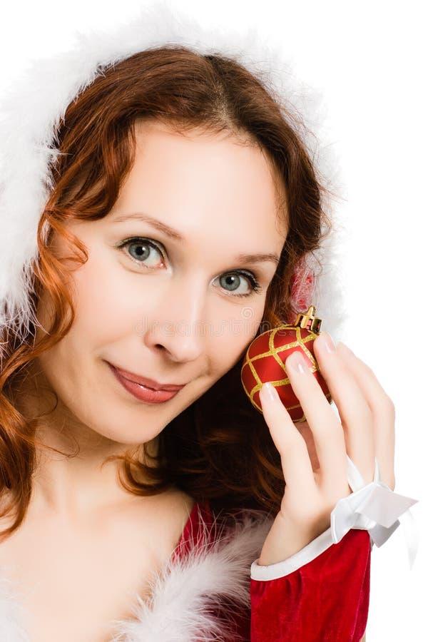 Download Beautiful Woman Dressed As Santa Stock Image - Image: 27068911