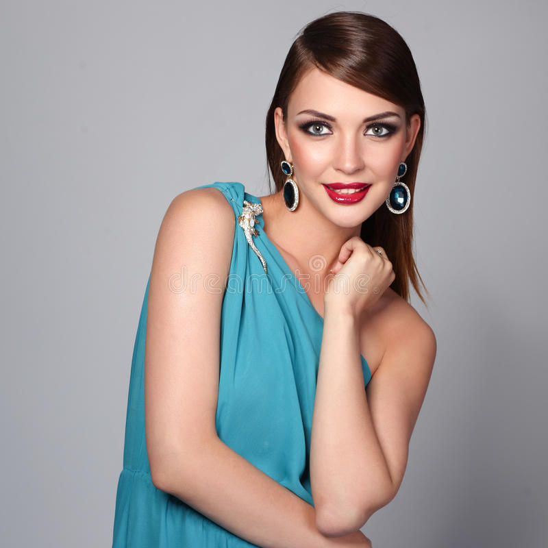 Beautiful woman with evening make-up.  royalty free stock photo