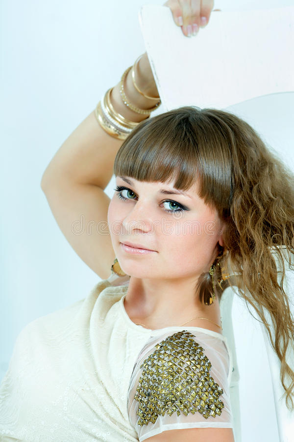 Download Beautiful Woman With Evening Make-up. Jewelry And Beauty. Fashio Stock Photo - Image: 28102812