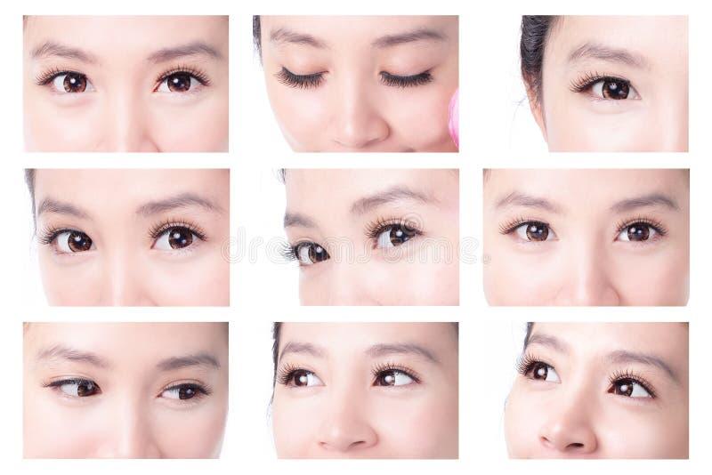Beautiful woman eye royalty free stock photography