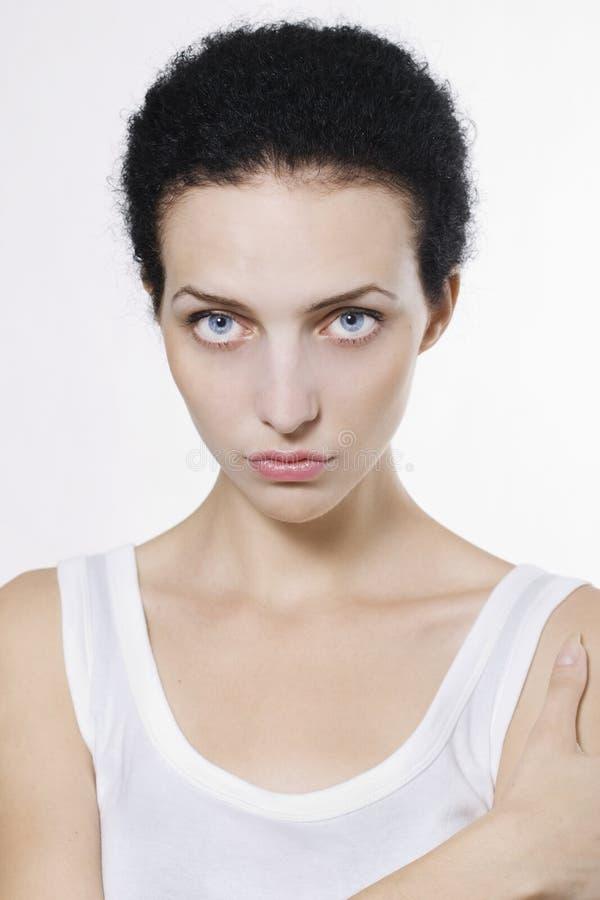Beautiful woman face stock photo