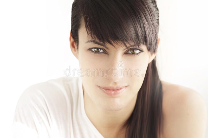 Beautiful woman face stock photo