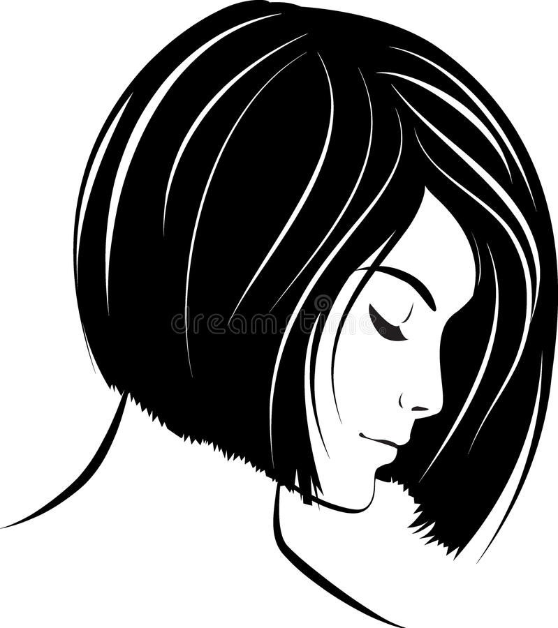 Beautiful woman face. Vector illustration vector illustration