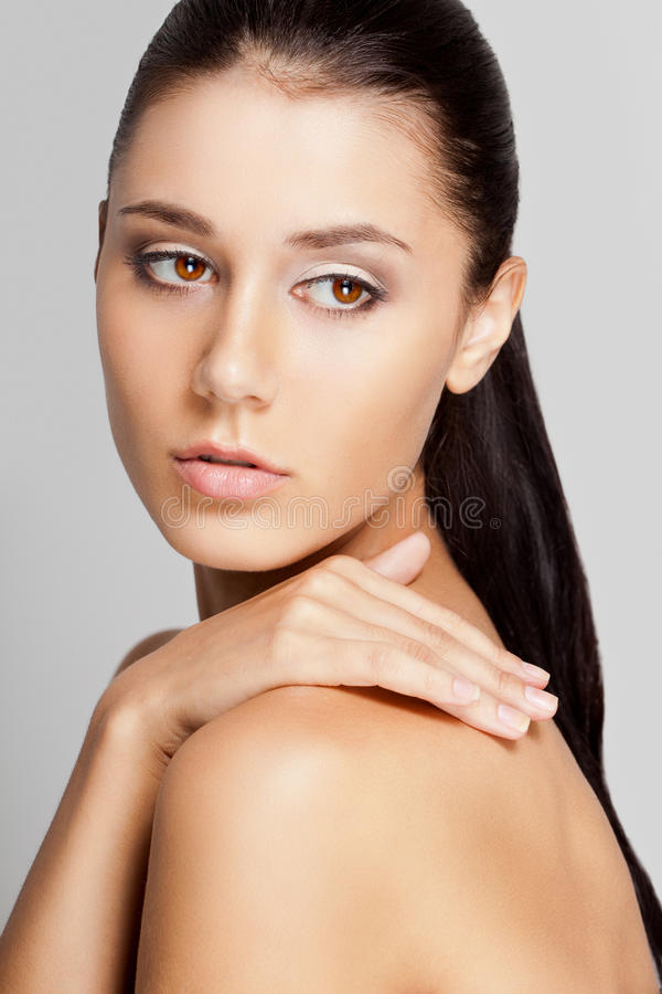 Download Beautiful Woman Face With Clear Skin Stock Photo - Image: 27433184