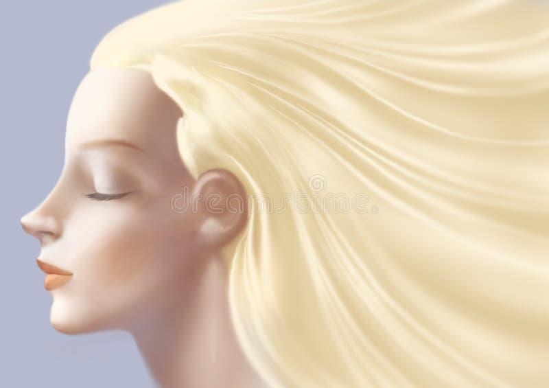 Beautiful woman face close up. Digital illustration of a beautiful woman face close up vector illustration