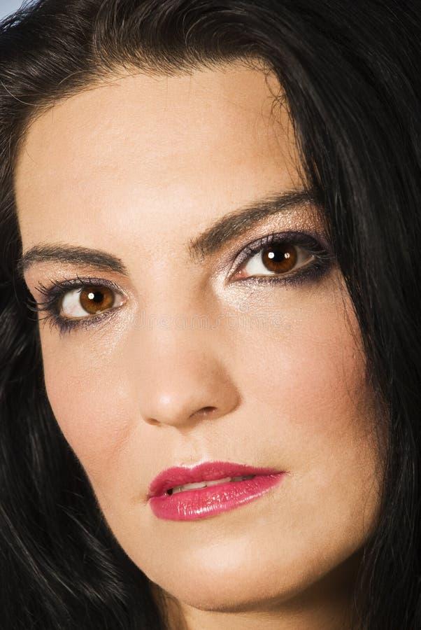 Beautiful Woman Face Make Up Stock Photos