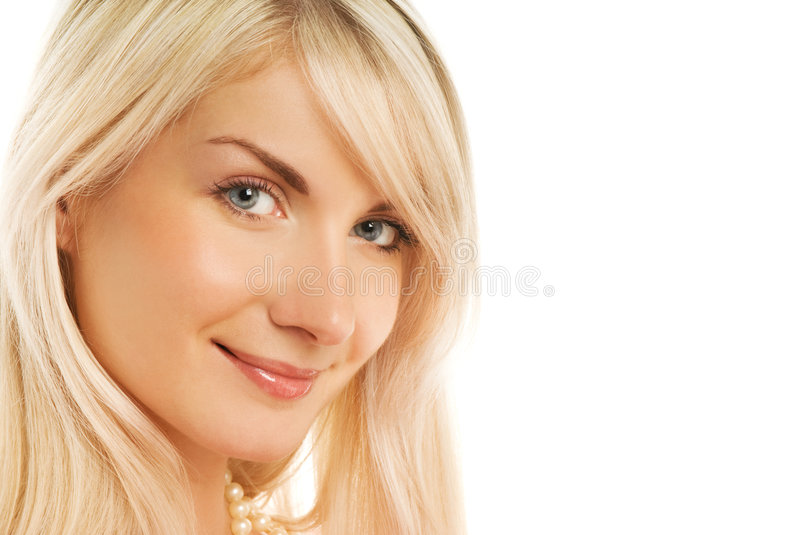 Beautiful woman face smiling royalty free stock images