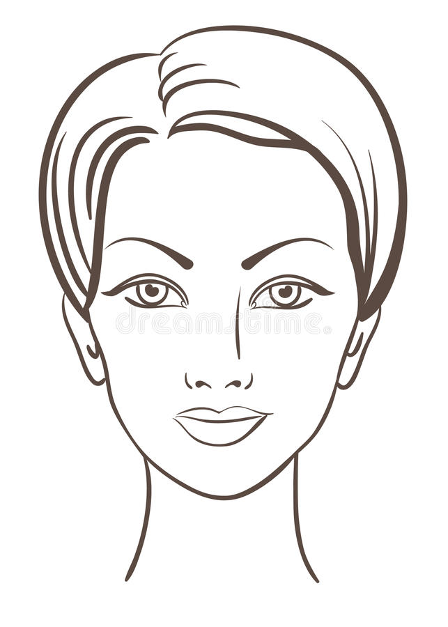 Beautiful woman face vector illustration. Beautiful woman face for makeup design vector illustration