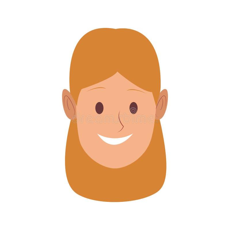 Beautiful woman face. Vector illustration graphic design royalty free illustration