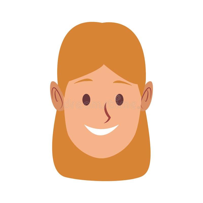 Beautiful woman face. Vector illustration graphic design vector illustration