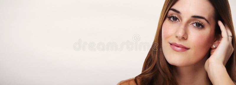 Beautiful woman face. stock photography