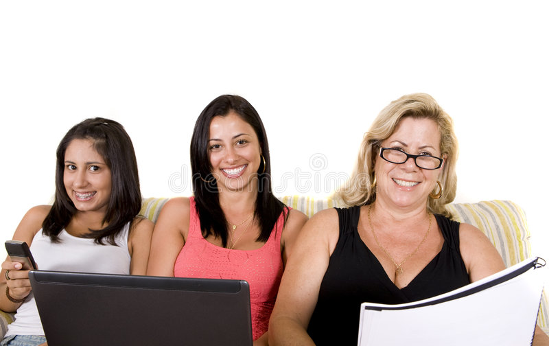 Beautiful Woman Family Stock Photo