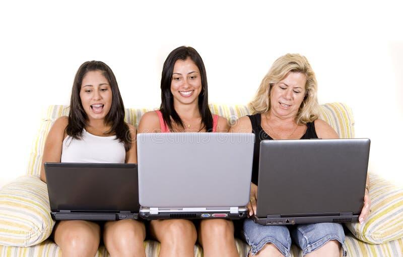 Download Beautiful woman family stock image. Image of parent, laptop - 8101429