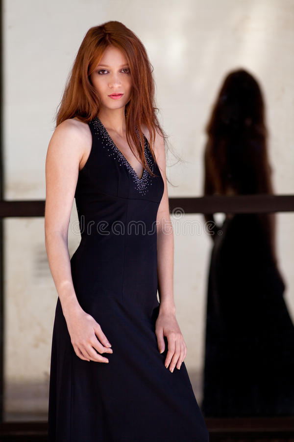 Beautiful Woman in Fancy Gown royalty free stock images