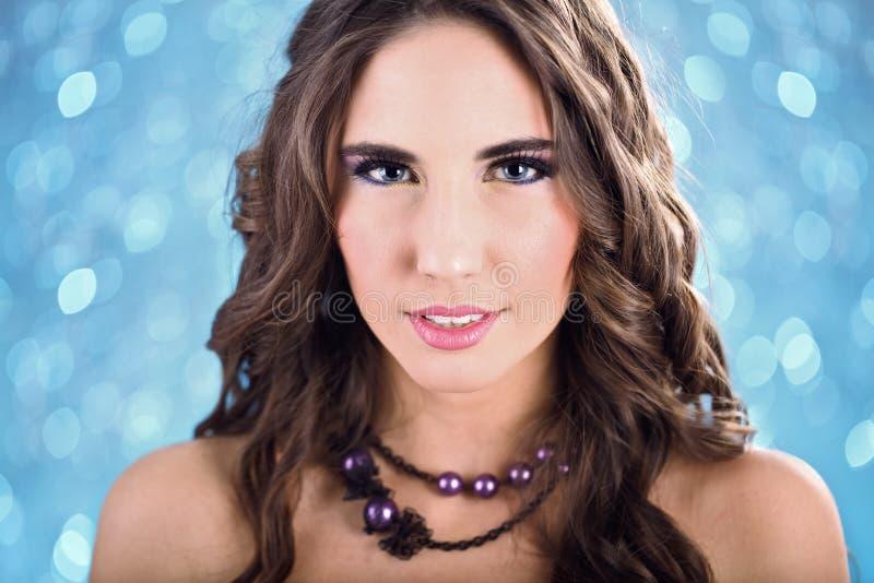 Beautiful Woman With Fashion Make-up Royalty Free Stock Photo