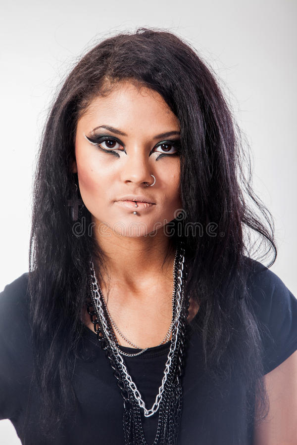 Beautiful woman. Fashion portrait. Close-up face makeup stock photography