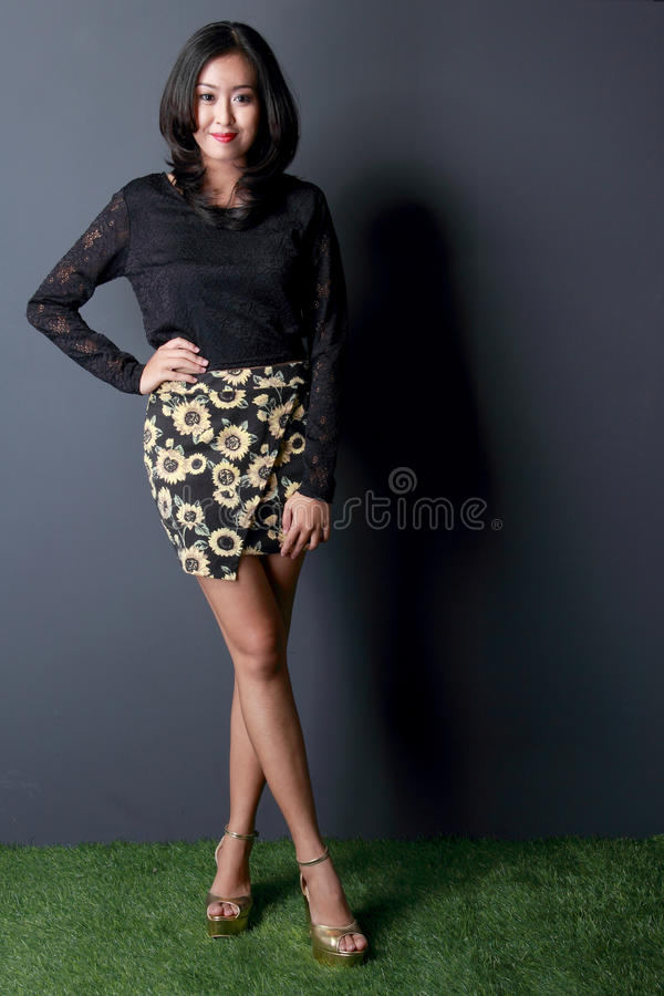 Beautiful woman in fashionable clothes. Portrait of beautiful woman in fashionable clothes stock photography