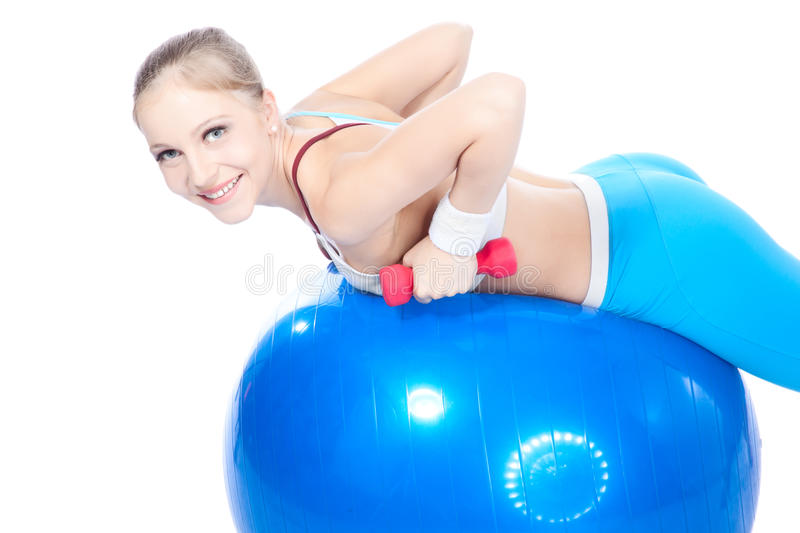Beautiful woman in fitness stock photos