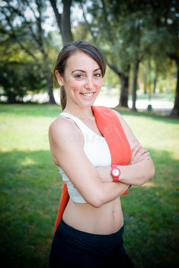 Download Beautiful Woman Fitness Positive Stock Image - Image: 32619011