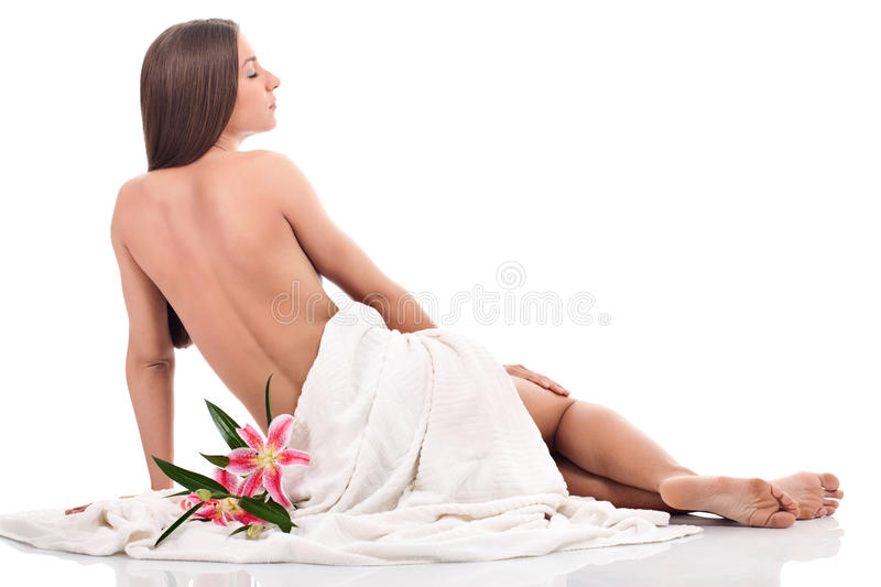 Download Beautiful  Woman With Flowers Stock Image - Image: 27527537