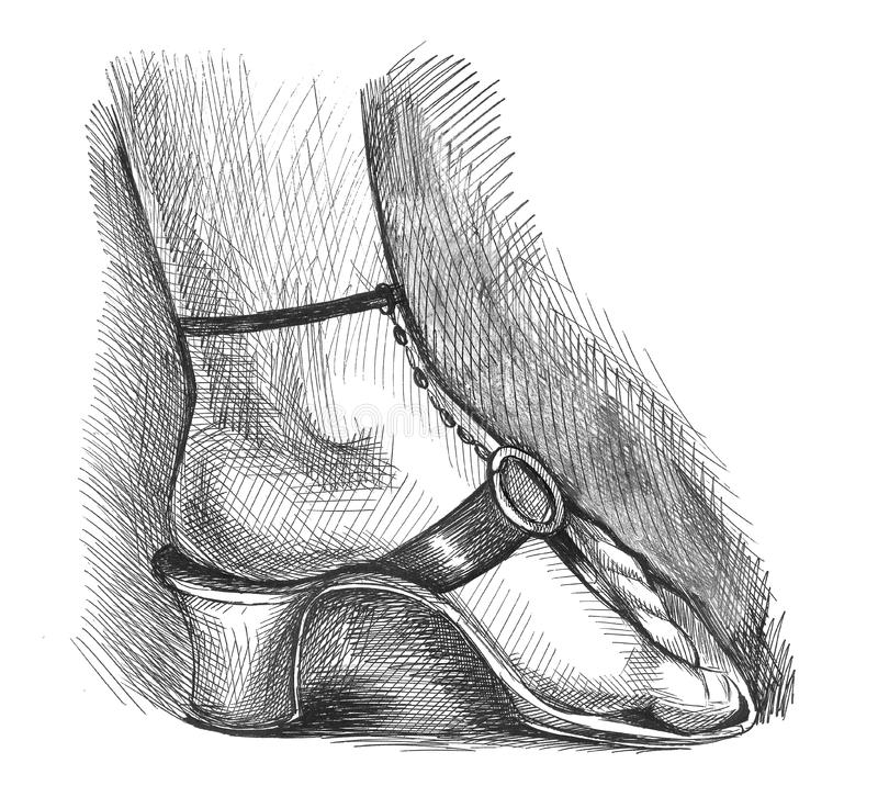Download Beautiful woman foot stock illustration. Image of stand - 2925362