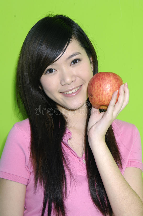 Download Beautiful Woman With Fruit Stock Image - Image: 28326541