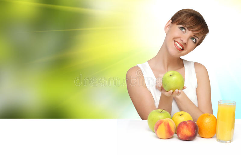 Download Beautiful Woman With Fruits Stock Photo - Image: 15465514