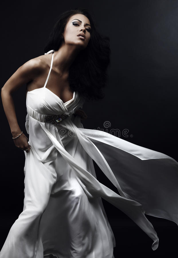 Beautiful Woman In Glamour Dress Royalty Free Stock Photos