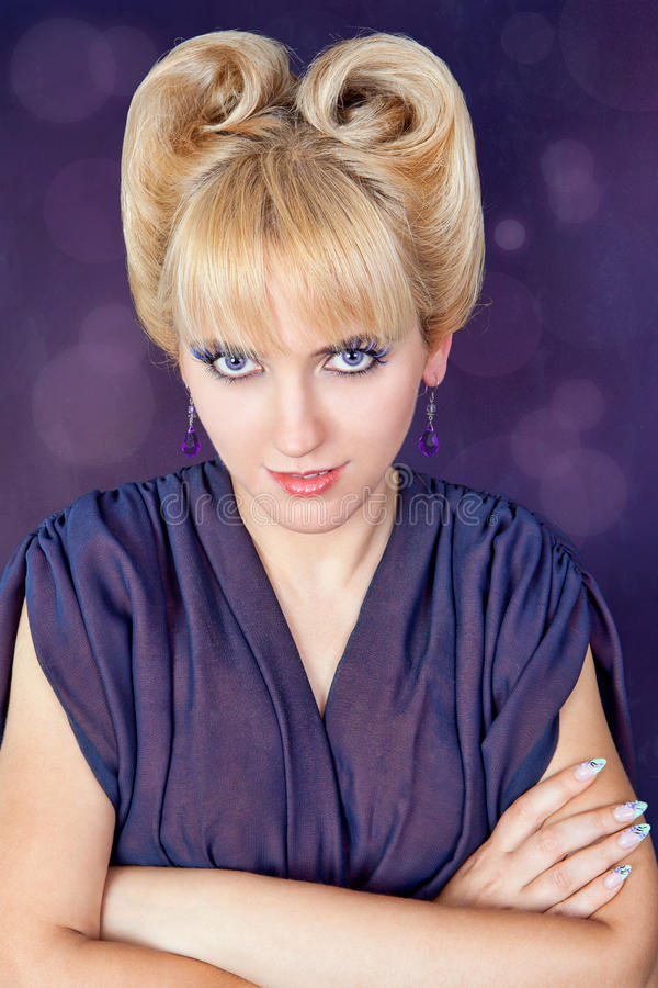 Download Beautiful Woman With A Hairdo Stock Photo - Image: 22151954