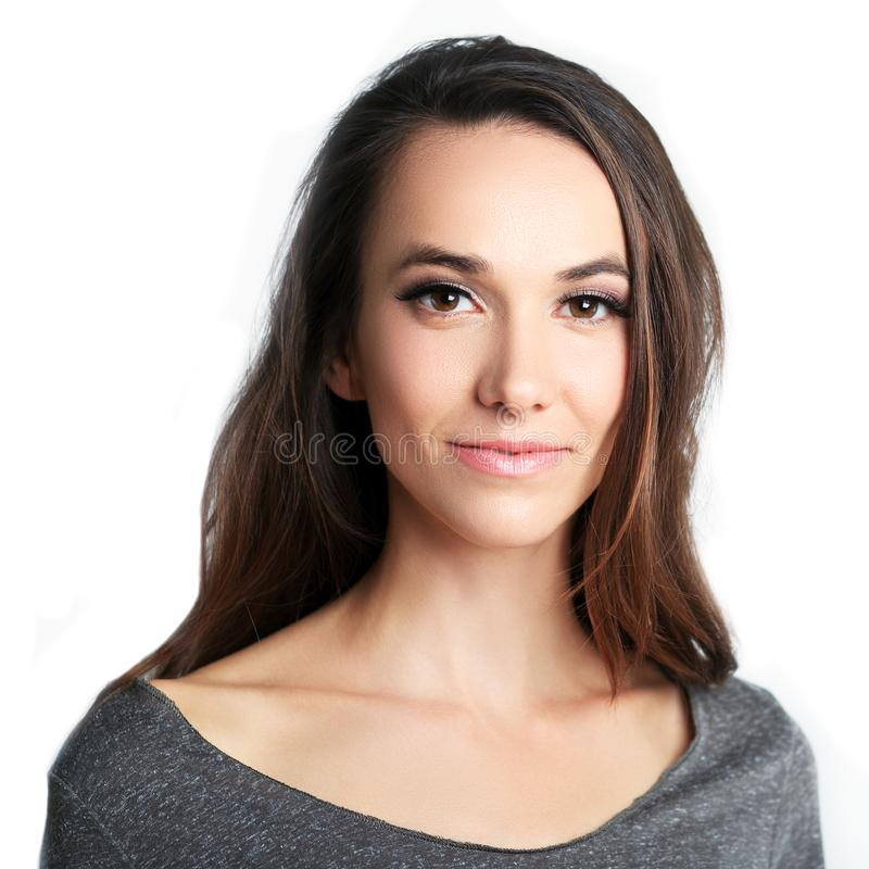 Beautiful woman headshot royalty free stock photography