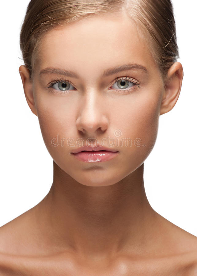 Beautiful woman with healthy skin stock photo