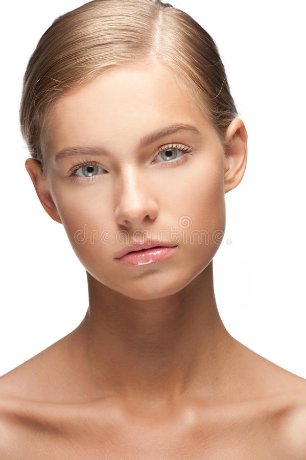 Beautiful woman with healthy skin stock images
