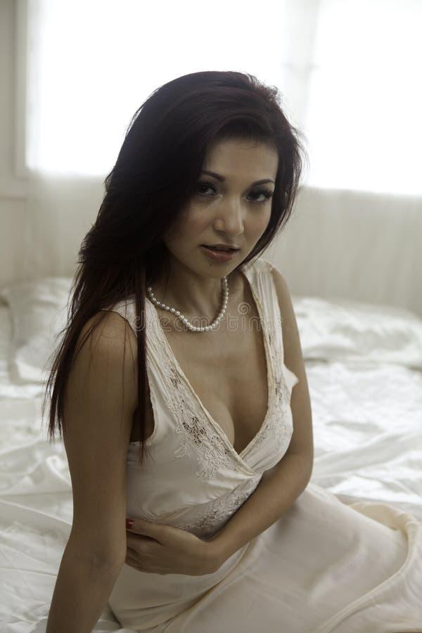 Download Beautiful Woman In Her Bedroom Stock Photo - Image: 33152456