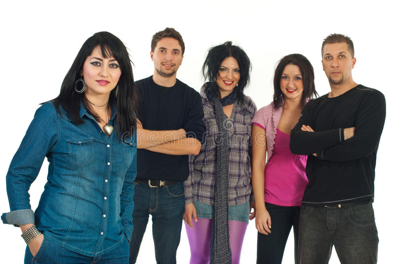 Download Beautiful Woman And Her Friends Stock Image - Image: 17966963