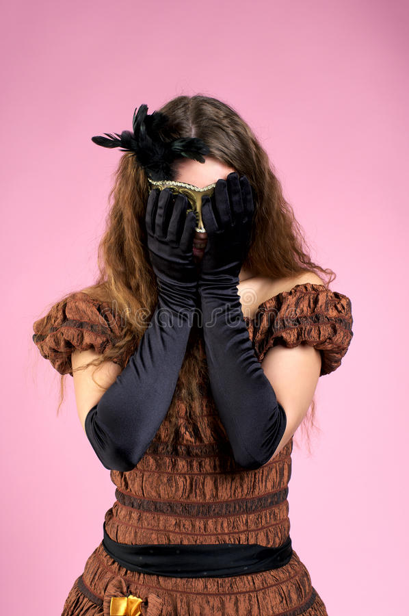 Download Beautiful Woman Hiding Her Face By Stock Photo - Image: 18542770