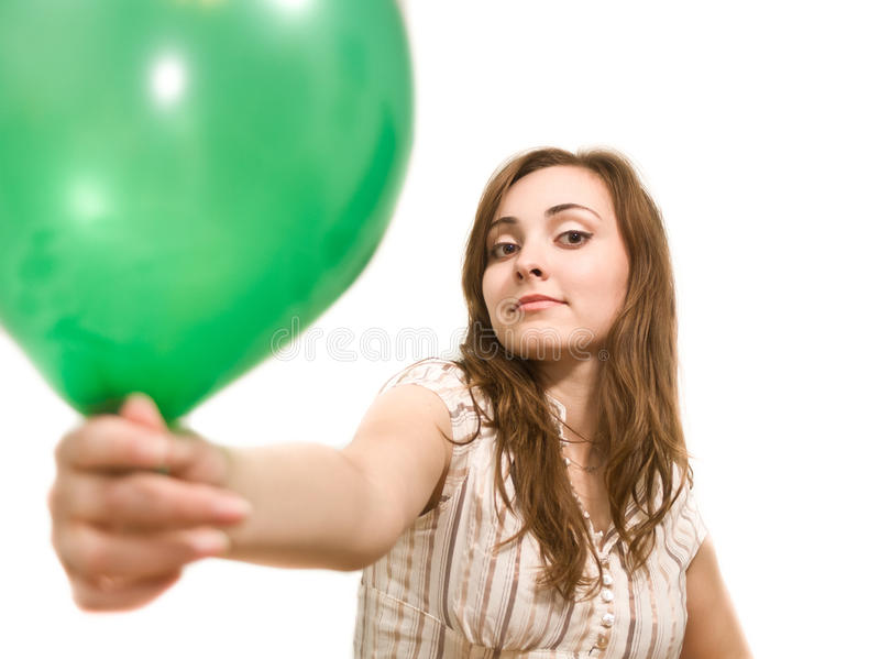 Download Beautiful Woman Holding A Balloon Stock Image - Image: 20502723