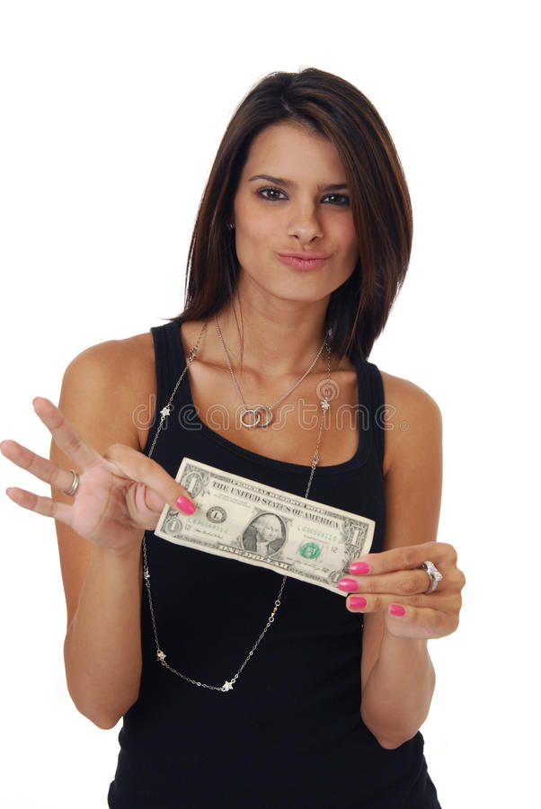 Download Beautiful Woman Holding Money Stock Image - Image: 10346383