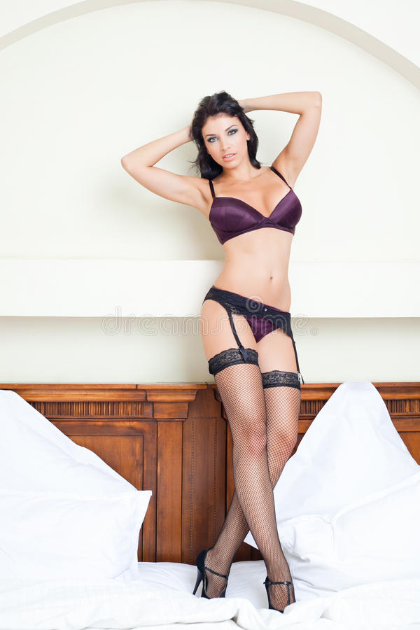 Beautiful Woman With Hot Body In Lingerie Stock Photos