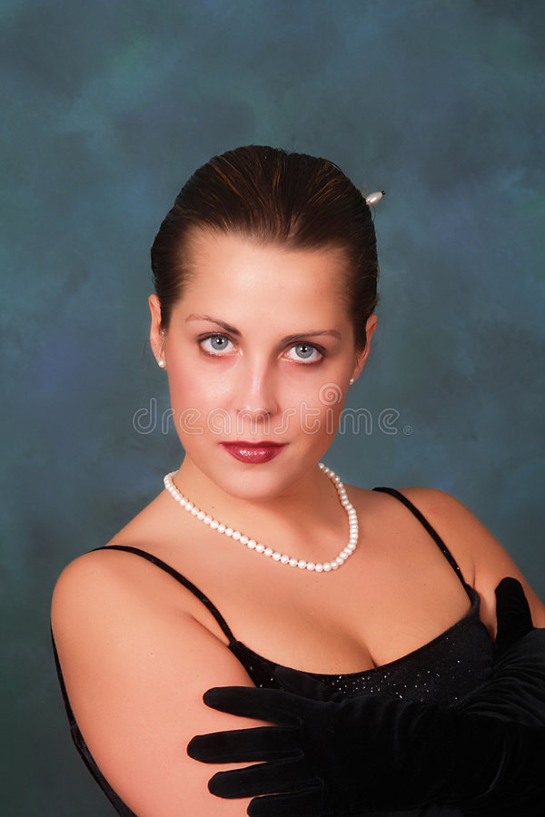 Free Beautiful Woman In Pearls Stock Images - 4190784