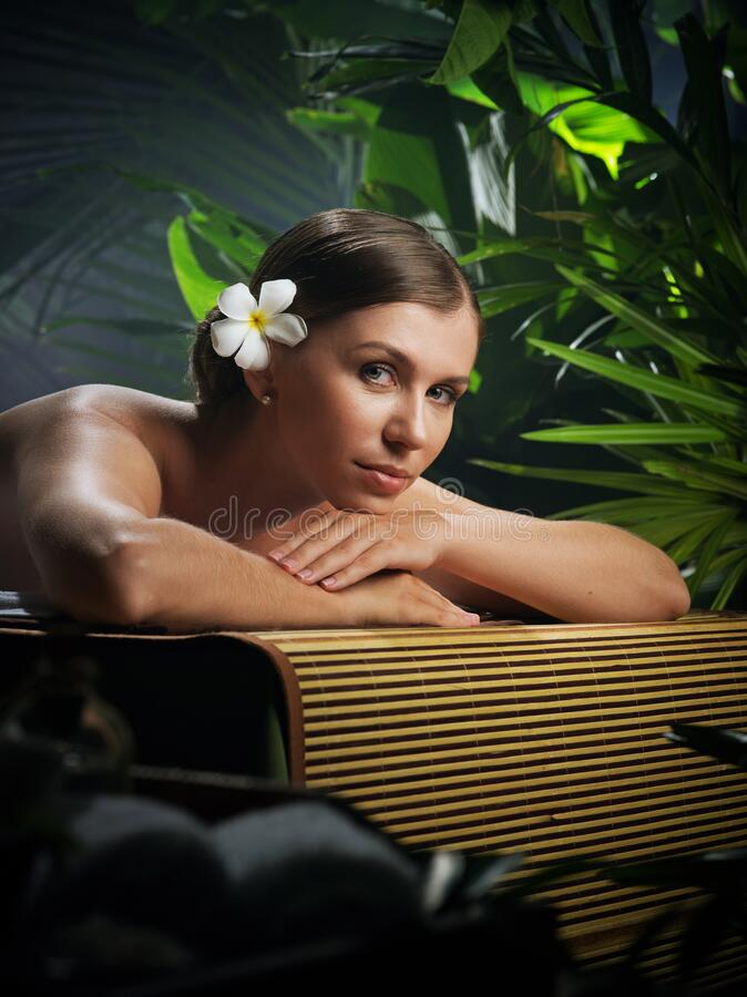 Free Beautiful Woman In Spa Environment Stock Images - 199042024