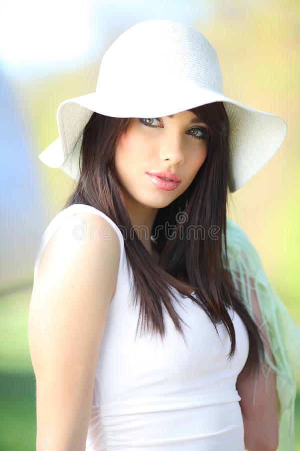 Free Beautiful Woman In Summer Park. Stock Photography - 9497112
