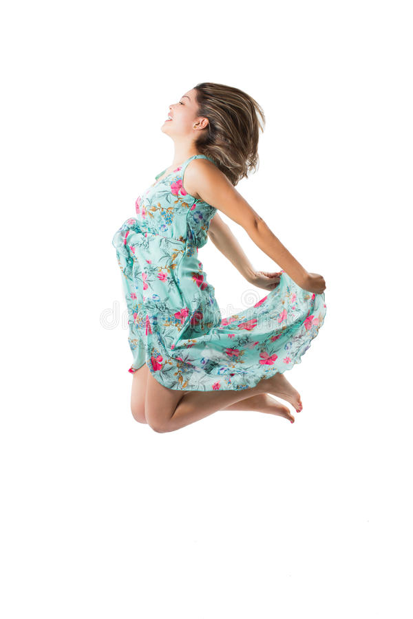 Download Beautiful  Woman Jump On Isolated Royalty Free Stock Images - Image: 28160689