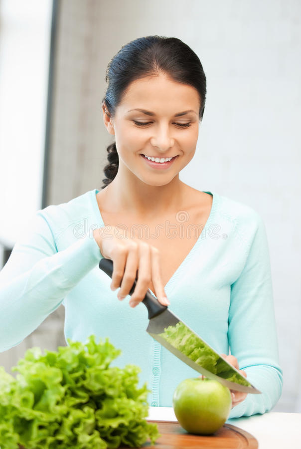 Download Beautiful Woman In The Kitchen Stock Photo - Image of natural, gorgeous: 20239026
